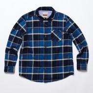 남아  가을 체크 셔츠(JT3MHL801ME-NV)