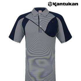 [칸투칸] T271 알바트로스 스트라이프 남성 집업 티셔츠