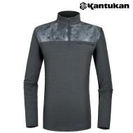 [칸투칸] T306 웜테크놀리지 전사 남성 집업티셔츠