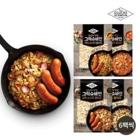 그릭슈바인 볶음밥(햄에그맛 6팩+김치소시지 6팩+갈릭소시지 6팩+커리소시지 6팩)