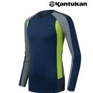 [칸투칸] T148 메쉬 멜란지 남성 라운드 티셔츠
