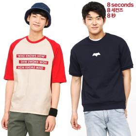 [에잇세컨즈] 남성 배색 래글런 티셔츠 外 이월단독특가 베스트