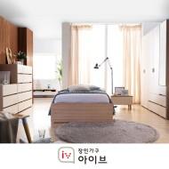 헤이유 싱글 패키지 (800기본옷장+SS침대+독립매트+3단서랍장)