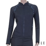 여성 비치 래쉬가드 자켓 수영복 (EQBLI74) GRY