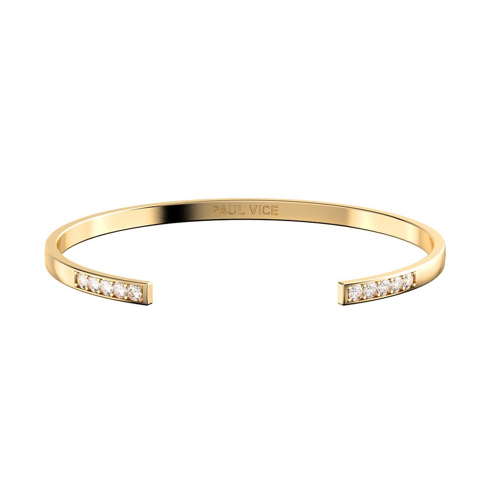폴바이스 [PAULVICE 폴바이스] Cuff Collection - Gold 여성 뱅글 팔찌 PVJ001GD