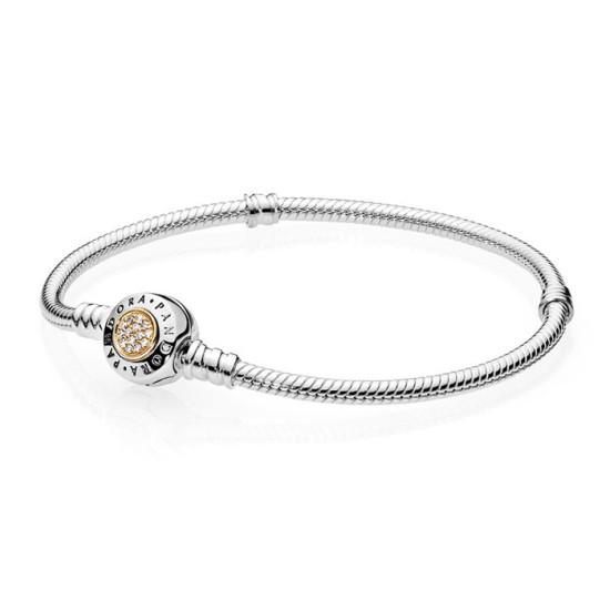 00c61bb20 [판도라(주얼리)]판도라□쇼핑백증정 Moments Two Tone Bracelet with PANDORA