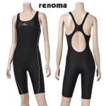 [레노마 수영복(RENOMA SWIM)]여성실내 X라인 캡부착 반신 수영복 LS3852-BK