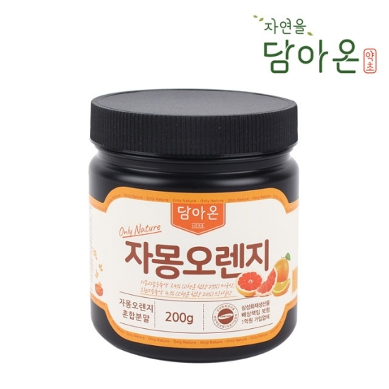 담아온약초 [담아온약초] 자몽오렌지 혼합분말 200g 4통