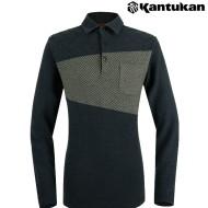 [칸투칸] T474 건클럽 체크 남성 카라 티셔츠