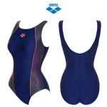 여성 일반 원피스 실내 수영복 (AQBLX02) NVY