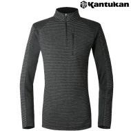 [칸투칸] T455 블럭스 스트라이프 남성 보온 티셔츠