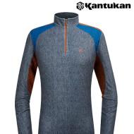 [칸투칸] T310 습기 조절 에어로웜 남성 집업 티셔츠