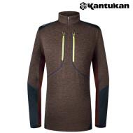 [칸투칸] T307 숄더스트레치 포켓 패턴 집업티셔츠