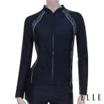 여성 비치 래쉬가드 자켓 수영복 (EQBLI74) BLK