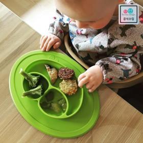 매트일체형 흡착 이유식기_아동식기,유아식기,유아식판, 필수이유식준비물
