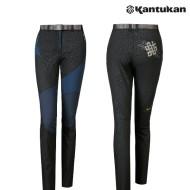 [칸투칸] KPFE68 매혹적인 블랙 레오파드 여성 팬츠