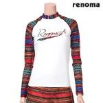 여성실내겸 비치 래쉬가드 긴소매 티셔츠 TS4344-RD