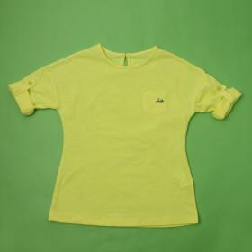 여아 네온 7부 롤업 티셔츠(JT2MTR465FL-YE)
