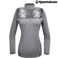 [칸투칸] T836 그레이 퍼트리밍 보온 티셔츠