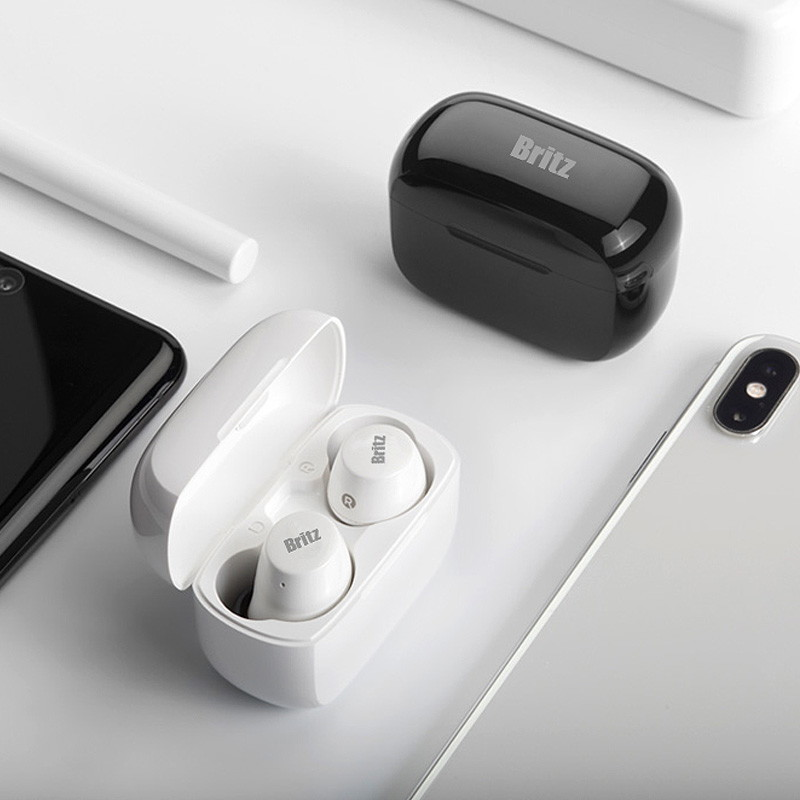 브리츠 브리츠 공식총판  Acoustic TWS5 퀄컴칩셋 32시간 사용 블루투스 이어폰 통화+음악 블루투스 v5.0 QCC aptX 코텍 지원 IPX5 방수