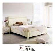 [장인가구]로즈화이트 침대(Q) (라텍스 매트포함)