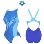 여성 일반 원피스 실내 수영복 (AQBLX10) BLU