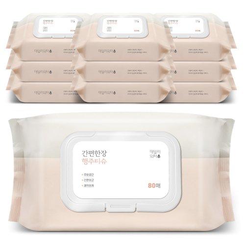 [데일리워터][데일리워터] 행주전용 물티슈 캡형 10팩/FDA승인 G.SOL함유